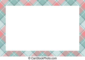 ornament., vindima, borda, escocês, vector., retro, padrão, xadrez, tartan, quadro, style.