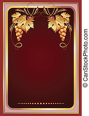 ornament, wijnstok, achtergrond