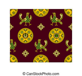 Ornament with medieval elements - Seamless ornament with...