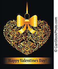 ornamenta, giorno, scheda, valentine