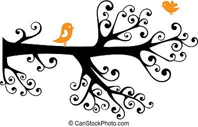 ornamental, árbol