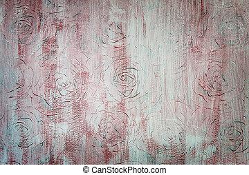 ornamental, årgång, bakgrund, ro
