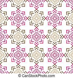ornamental, 10, abstratos, eps, ilustração, seamless, vetorial, fundo, style., design.