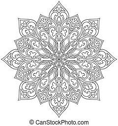 Ornamental abstract mandala.