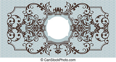 ornamental, abstratos, quadro