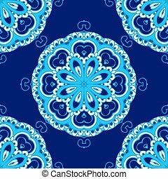 ornamental, abstratos, vetorial, padrão snowflake