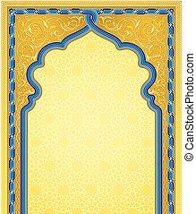 Ornamental art background in gold color