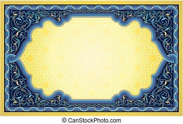 Ornamental art banner background