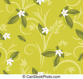 Ornamental background with flowers