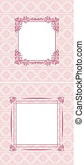 Ornamental background with frame