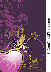 Ornamental background with heart