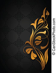 Ornamental black background