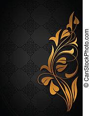 Ornamental black background