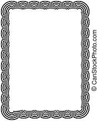 Ornamental black frame with arc elements