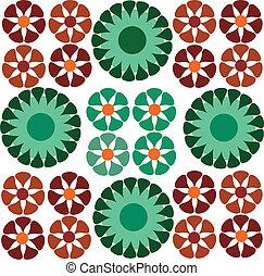 ornamental, blomst, seamless, tapet, ornamentering