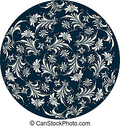 ornamental, blomstrede, baggrund