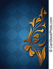 Ornamental blue background