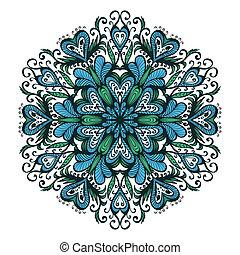 Ornamental blue snowflake