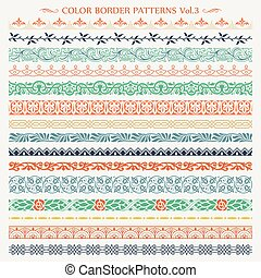 Ornamental border color patterns 3