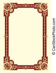 Ornamental border frame vintage
