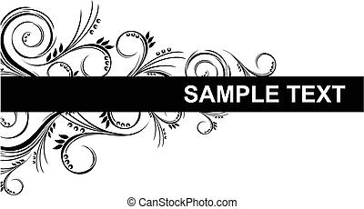 ornamental border - vector border with floral ornaments