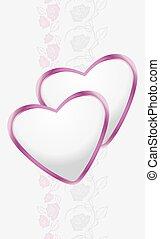 Ornamental border with hearts