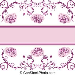 Ornamental border with roses