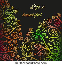 Life Is Beautiful Card Hand Written Latin Quote Life Is Beautiful