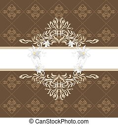 Ornamental brown background