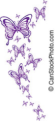 butterflies - ornamental butterflies made in eps