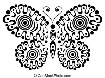 Ornamental butterfly 3.