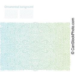 ornamental, cópia, vetorial, fundo, espaço