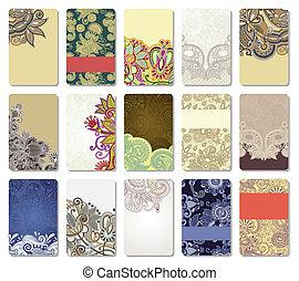 ornamental, cartão negócio
