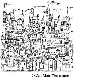ornamental castle from a fairy tale - Decorative ornamental...