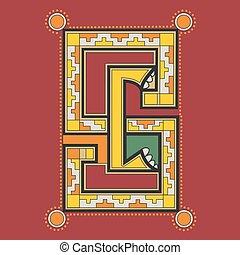 Ornamental Celtic monogram SC