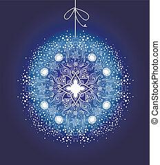 Ornamental Christmas ball