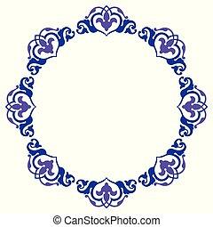 ornamental, cirkel, konstruktion