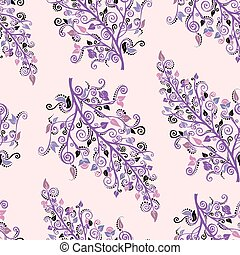 Ornamental colored seamless floral pattern.