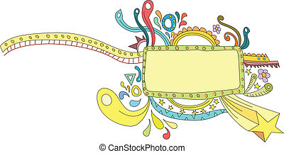 Ornamental colorful banner