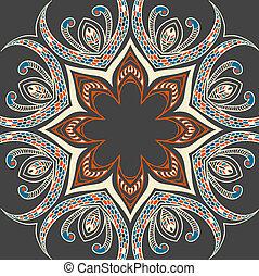 ornamental, colourful, baggrund