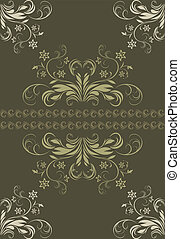 Ornamental dark green background