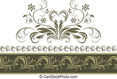 Ornamental dark green border