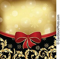 ornamental, decoración, embalaje, diseño, feriado, navidad