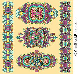 ornamental decorative ethnic floral adornment for your design