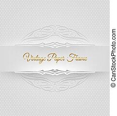 Ornamental decorative paper frame