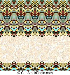 ornamental, des, cubierta, invitación, plano de fondo, floral, folkloric