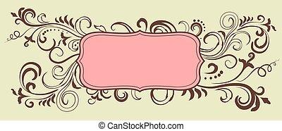 Ornamental doodle floral frame