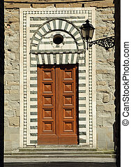 ornamental doorway to the Santo Stefano al Ponte church in Florence