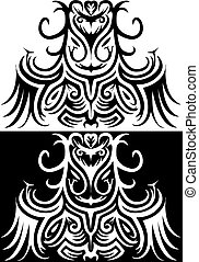 ornamental, druid, illustration