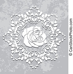 Ornamental element on the abstract gray background. Vector...